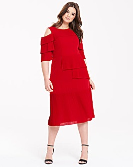 Truly You Red Pleat Dress