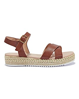 Cross Strap Espadrille Standard Fit