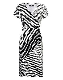 Grace Mono Stripe Midi Dress