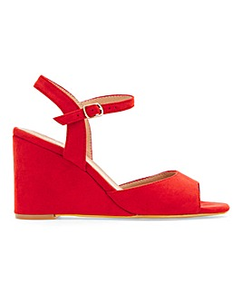Peach Wedge Sandal Wide Fit