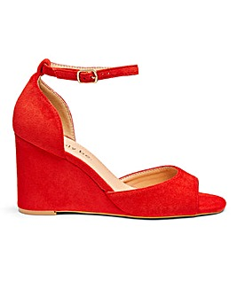 Peach Wedge Sandal Extra Wide Fit