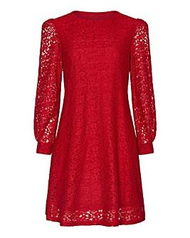 Mela London Curve Floral Lace Tunic Dres