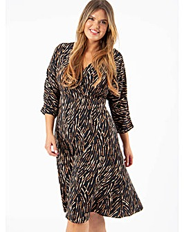 Lovedrobe GB Abstract Print Wrap Dress