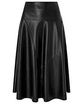 Monsoon Carly Circle Pu Skirt