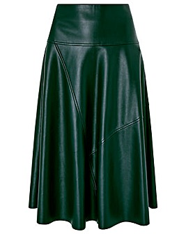 Monsoon Carly Circle Pu Skirt