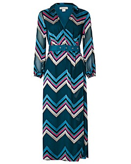 Monsoon Fearne Chevron Maxi Dress