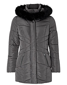 Monsoon Victoria Short Wrap Padded Coat