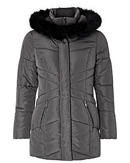 Monsoon Victoria Short Wrap Padded Coat