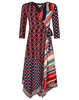 Monsoon Kelsie Patch Print Jersey Dress