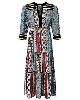 Monsoon Leonie Ecovero Print Dress