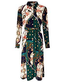 Monsoon Pearly Queen Print Shirt Dress