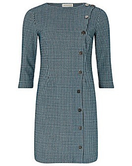 Monsoon Henny Houndstooth Jacquard Dress