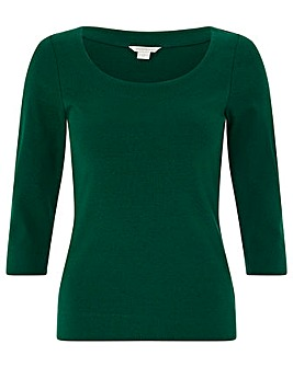 Monsoon Breda Scoop Neck Jersey Top