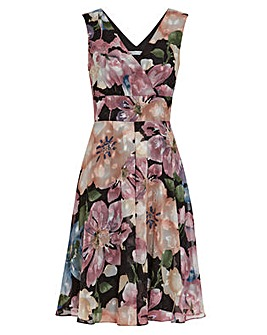 Gina Bacconi Camellia Floral Dress