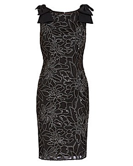 Gina Bacconi Norelli Embroidered Dress
