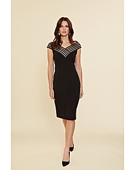 Gina Bacconi Callia Stretch Crepe Dress