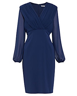 Gina Bacconi Emeria Chiffon Crepe Dress
