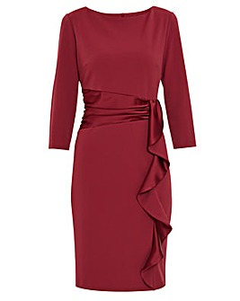 Gina Bacconi Edelia Stretch Crepe Dress
