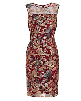 Gina Bacconi Mirta Embroidered Dress