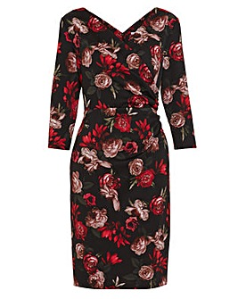 Gina Bacconi Grecia Floral Wrap Dress
