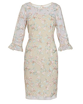 Gina Bacconi Armina Embroidered Dress