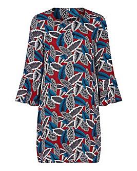 Yumi Curves Mixed Palm Tunic Dress
