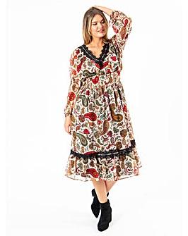 Koko Paisley Midi Dress