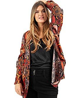 Lovedrobe GB Snake Print Satin Jacket