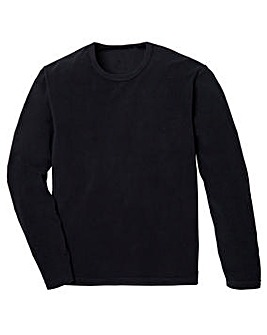 Black Crew Neck Fleece R