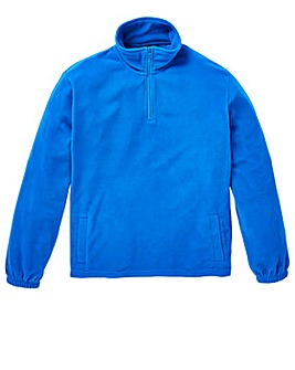Capsule Blue Basic Zip Neck Fleece R