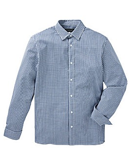 Flintoff by Jacamo Long Sleeve Check Stretch Shirt Regular