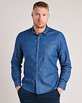 Flintoff by Jacamo Chambray Shirt Reg