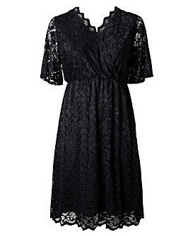Lovedrobe GB Lace Wrap Midi Dress