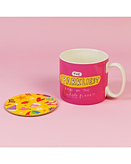 The Happy News Sparkliest Mug & Coaster