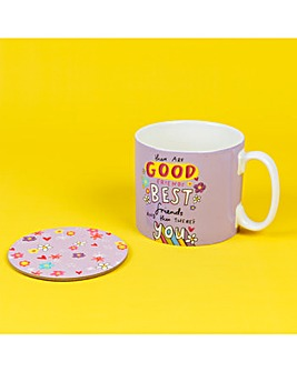 The Happy News Best Friend Mug & Coaster