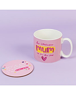 The Happy News Mum Mug & Coaster