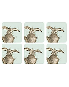 Wrendale Hare Coasters Set of 6