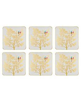 Sara Miller Coasters Set of 6 - Grey