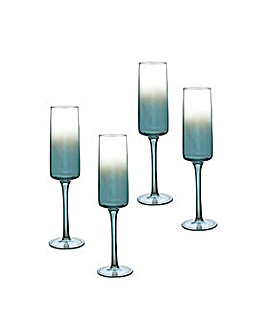 Portmeirion Atrium Champagne Flutes x 4