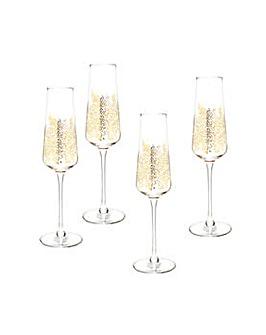 Sara Miller Champagne Flutes S/4