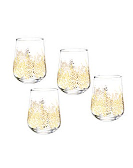 Sara Miller Stemless Wine Glasses S/4