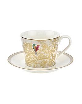 Sara Miller Tea Cup & Saucer Grey