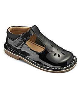 Girls 'Lola' Black Shoes Standard Fit