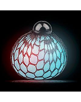 Light-Up Glitter Squishy Mesh Ball