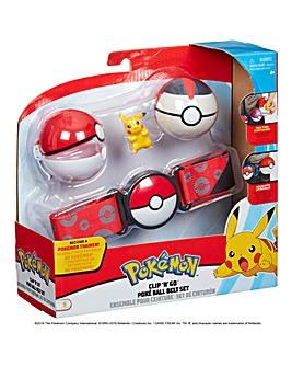 Pokemon Clip 'N Go Poke Ball Belt Set