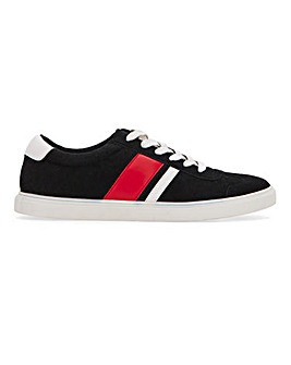 Side Panel Lace Up Trainer