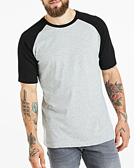 Grey/Black Raglan T-Shirt Long
