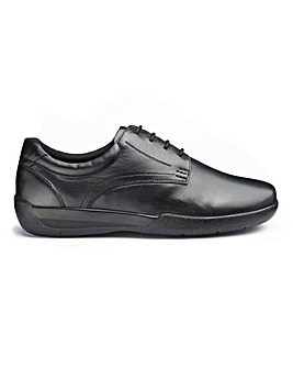Leather Lace Up Shoes Extra Wide Fit