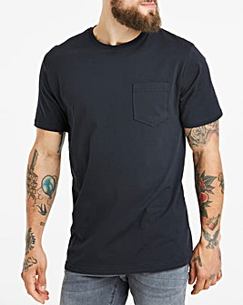 Black Crew Neck Pocket T-Shirt