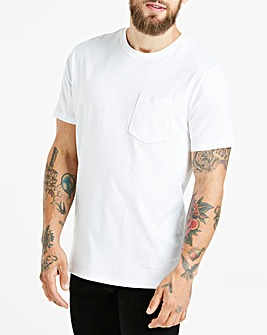 White Crew Neck Pocket T-Shirt